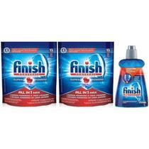 Finish Powerball 2 Detergente E 1 Secante Abrihantador -