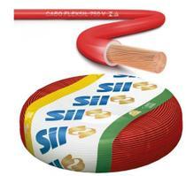 Fio cabinho flexivel 1.5mm vermelho rl100mts - marca sil -