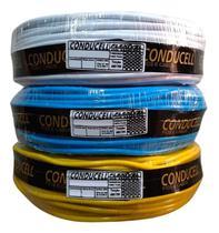 Fio Cabo Elétrico Flexível 10mm Colorido Rolo Com 100 Mts - Conducel