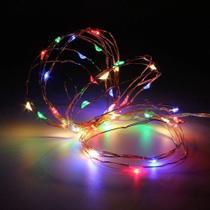 Fio de Fada - 20 Leds - 2mts - Led Colorido-Luzes Decorativas Festa Quarto-Tampa em formato de rolha - Interponte