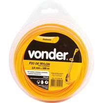 Fio de nylon 1,6mmx100m redondo para roçadeiras e aparadores - Vonder -