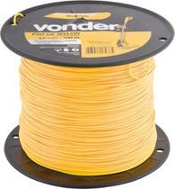 Fio de nylon 1,6mmx500m redondo para roçadeiras e aparadores - Vonder -