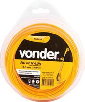 Fio de nylon 2,0mmx100m redondo para roçadeiras e aparadores - Vonder -