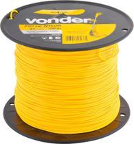 Fio de nylon 2,4mmx500m redondo para roçadeiras e aparadores - Vonder -