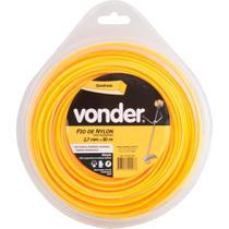 Fio de nylon 2,7mmx50m quadrado para roçadeiras e aparadores - Vonder -