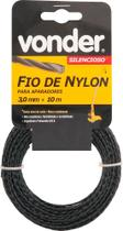 Fio de nylon 3,0mmx10m silencioso para roçadeiras e aparadores - Vonder -