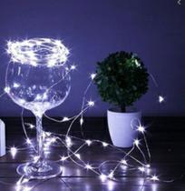 Fio Fada Prata Cobre Cordão Luz Branco Natal 5m 50 Leds Pilha - Importação