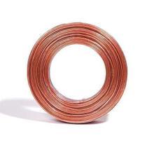 Fio paralelo technoise bicolor 2x14 1,50mm² cristal/laranja rolo 100mt -