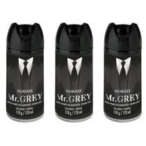Fiorucci Mr. Grey Desodorante Aerosol 170ml (Kit C/03) -