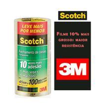 Fita 3M de Empacotamento 45MM X 100M Transparente C/4 UN - Scotch