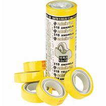 Fita adesiva 12x10 amarela / 10rl / adelbras -