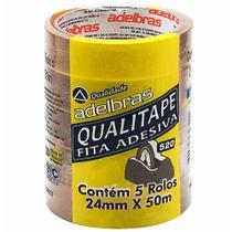 Fita adesiva 24x50 transparente qualitap / 5rl / adelbras -