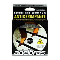 Fita adesiva anti-derrapante 50mmx5m pvc preta Adelbras -