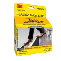 Fita Adesiva Anti-derrapante Safety Walk - 50mmx5m - Preta - 3m -