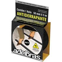 Fita Adesiva Antiderrapante Adelbras 50mm X 5m Escada Preto -