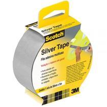 Fita Adesiva Cinza Silver Tape 45 mm X 5 Metros   3m -