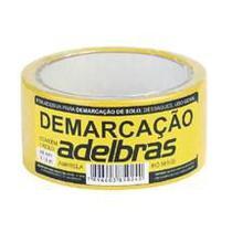 Fita Adesiva Demarcação de Solo Amarelo 48x14 Metros Adelbras -