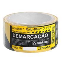 Fita Adesiva Demarcação Solo 48mmx14m Zebrada Adelbras -