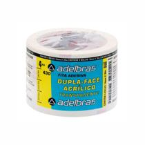 Fita Adesiva Dupla Face 18mm X 30m Adelbras - Pacote Com 4un -