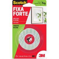 FITA ADESIVA DUPLA FACE 24mm X 1,50m ESPUMA FIXA FORTE SCOTCH 113 3M -