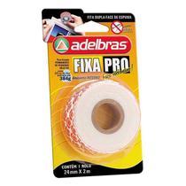 Fita Adesiva Dupla Face Espuma Fixa Pro 24mmx2m - Adelbras -