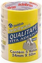 Fita  Adesiva Durex Transparente 24MMX50M Adelbras PCT 05UN -