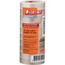 Fita Adesiva Durex Transparente 3M 12MMX30M PCT 10 Unidades -