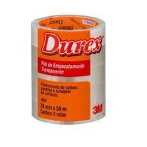 Fita Adesiva Embalag 3m Durex 24x50 Transp Kit C/5 - Rcdeletrica