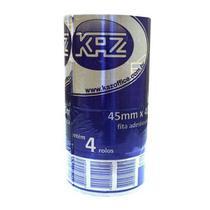 Fita adesiva embalagem 45 mm x 40 metros - c/ 4un kaz - marrom - aruforte -