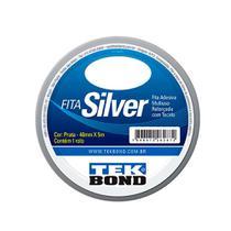 Fita Adesiva Extra Forte Silver Tape 48mm com 5 metros Prata - Tekbond