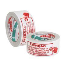 Fita Adesiva Lacre de Seguranca Branca 50mm x 100m 2 UN Adelbras -