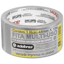 Fita adesiva multiuso prata 48mm x 10m - adelbras -