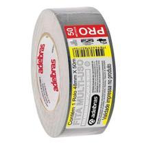 Fita adesiva multiuso Silver Tape 48mm x 50m prata Adelbras -