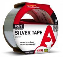 Fita Adesiva Multiuso Silver Tape 800s Prata 45x5m Adere - 5 Unid -