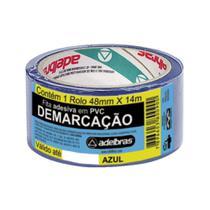 Fita Adesiva p/ Demarcação de Solo VER/AMA/PRE/AZUL ADELBRAS-Azul - Multiprimer