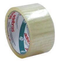 Fita Adesiva p/ Embalagem Adelbras Qualitape Transparente 48mm 40 Metros -