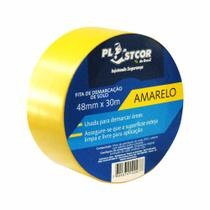 Fita Adesiva para Demarcação e Sinalização de Solo 48mm x 30m Amarela - Plastcor