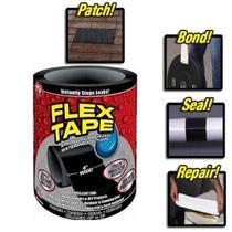 Fita adesiva para reparos flex tape black cola tudo remendo para casa industria e campo com 150cm - MAKEDA
