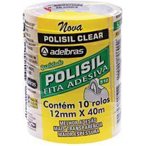 Fita adesiva polisil 12mmx40m.transp.gr. pct.c/10 - Adelbras
