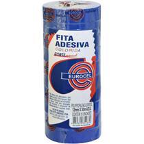 Fita Adesiva Pp 2000 12mmx30m Azul Eurocel Pct.c/10 -