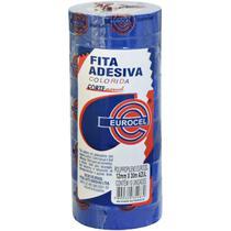 Fita Adesiva PP 2000 12MMX30M AZUL - Eurocel