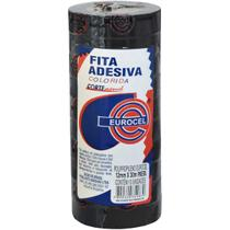 Fita adesiva pp 2000 12mmx30m preta pct.c/10 - EUROCEL