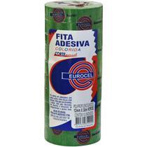 Fita Adesiva Pp 2000 12mmx30m Verde Eurocel Pct.c/10 -