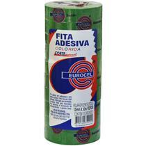 Fita Adesiva PP 2000 12MMX30M Verde - Eurocel