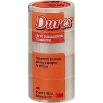 Fita adesiva pp 45mmx40m transparente Durex 3M PT 4 UN -
