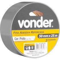 Fita adesiva reforçada 50 mm x 25 m prata VONDER -