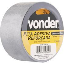 Fita Adesiva Reforçada 50mm x 10m Prata - Vonder -