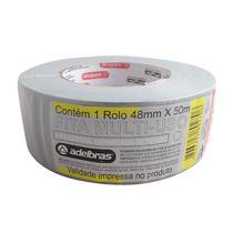 Fita Adesiva Reforçada Silver Tape 48X50M Cinza Adelbras -