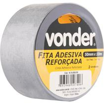 Fita adesiva reforçada silver tape 50mmx25m prata - Vonder -