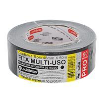 Fita Adesiva Reforçada Silver Tape Preta 48mm x 50m - Adelbras